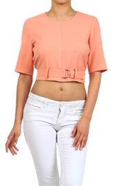Blvd Belted Crop Top - Front cropped