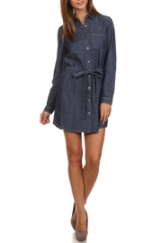Blvd Belted Denim Dress - Product Mini Image