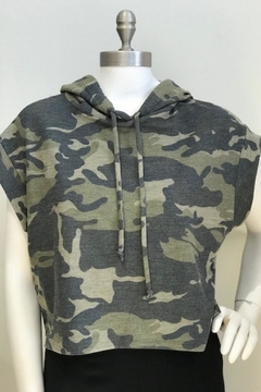 Blvd Camo Cropped Cut -Of Hoodie - Product List Image