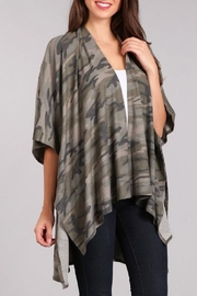 Blvd Camouflage Cardigan - Front full body
