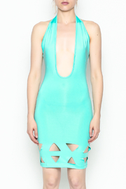 BLVD collection Cutout Halter Mini - Front cropped