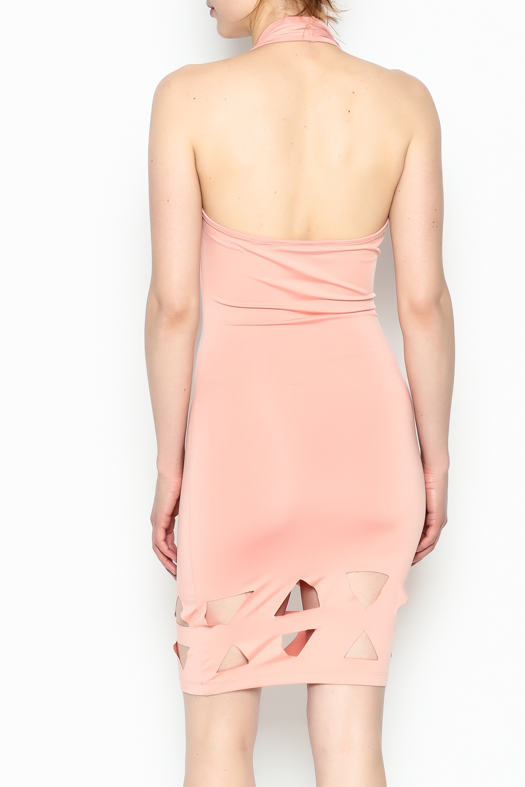 BLVD collection Cutout Halter Mini - Back Cropped Image