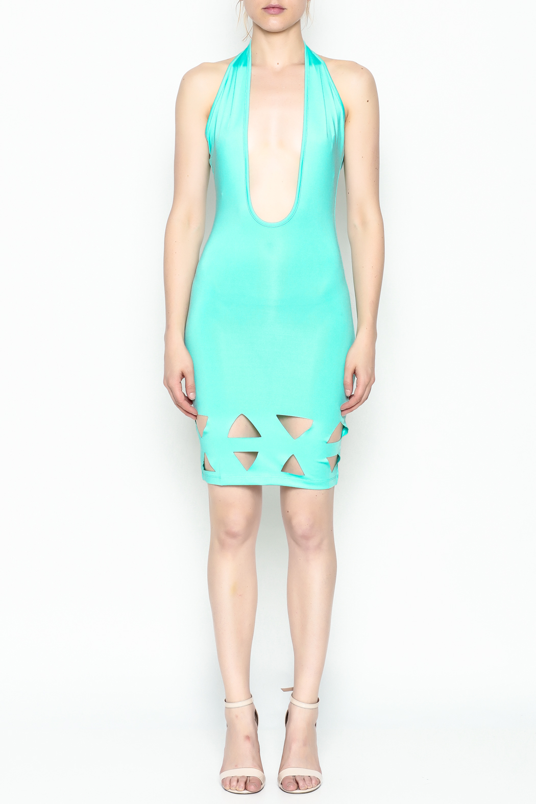 BLVD collection Cutout Halter Mini - Front Full Image