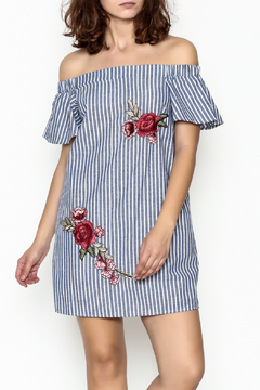 Shoptiques Product: Embroidered Off Shoulder Dress