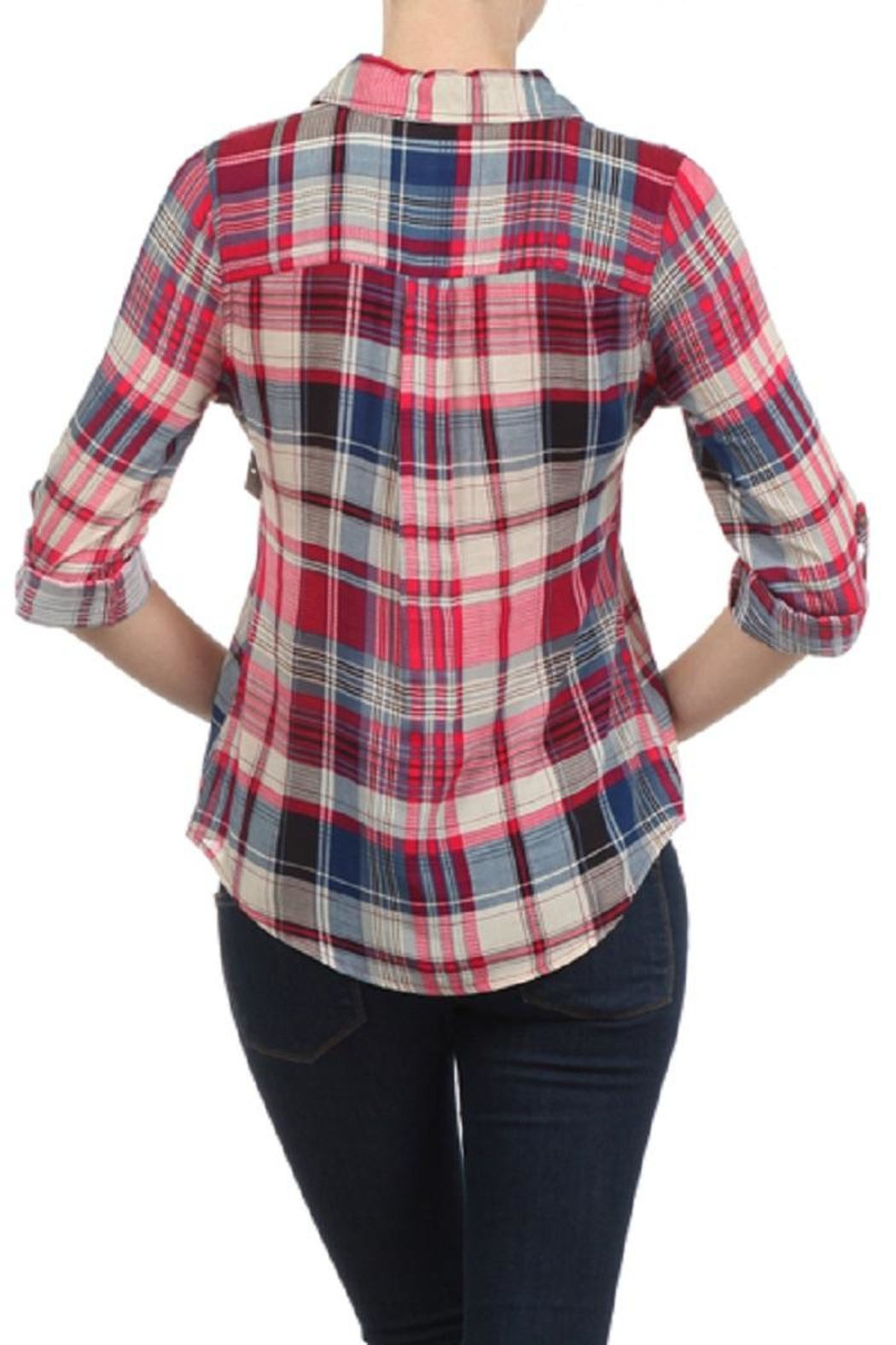Blvd Plaid Button Down - Side Cropped Image
