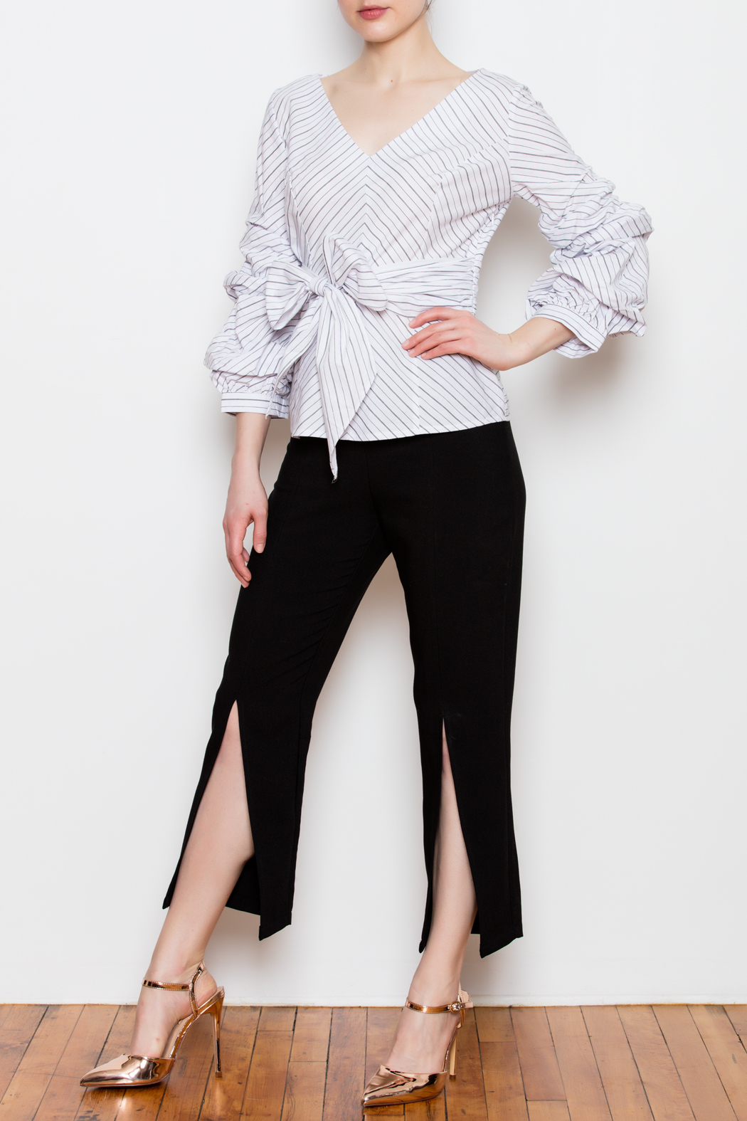 Blvd Puff Sleeve Top - Front Full Image