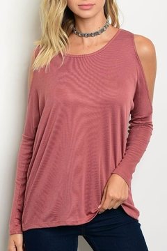 Shoptiques Product: Rose Cold Shoulder Top