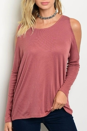 Blvd Rose Cold Shoulder Top - Front cropped