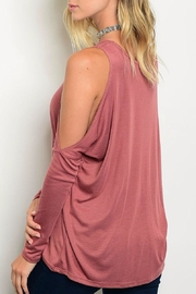 Blvd Rose Cold Shoulder Top - Front full body