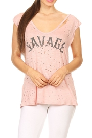 Blvd Savage Distressed Tee - Product Mini Image