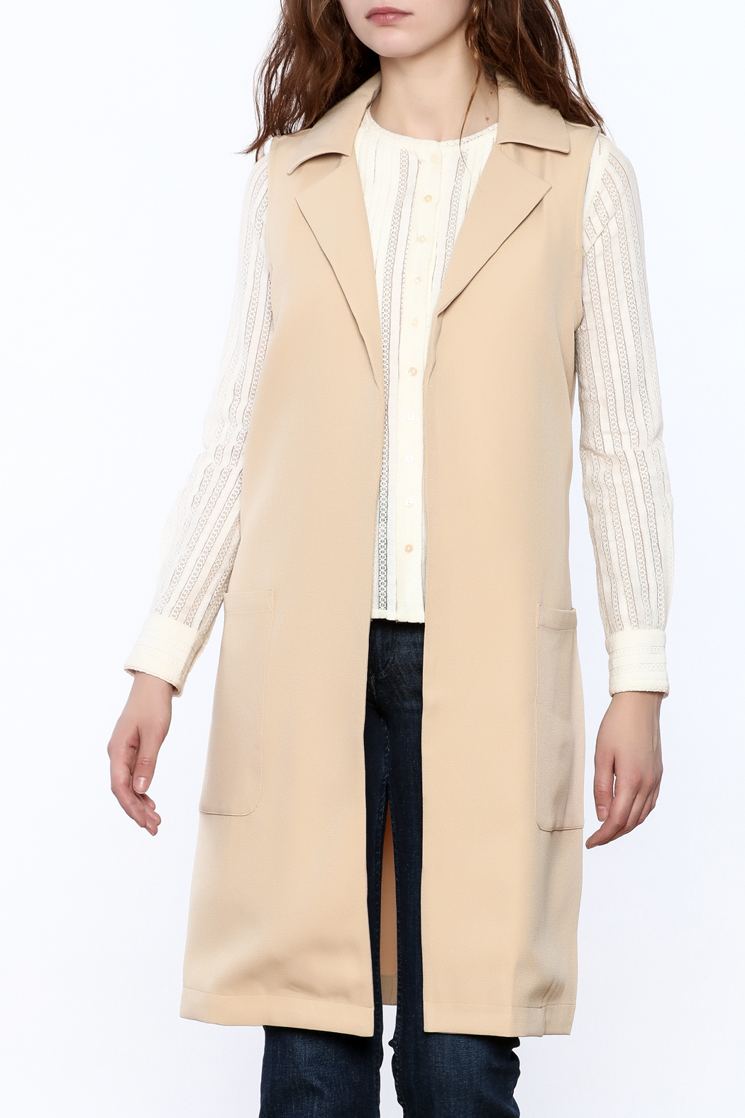 Blvd Sleeveless Trench Coat - Front Cropped Image