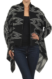 Blvd Zigzag Print Cardigan - Product Mini Image