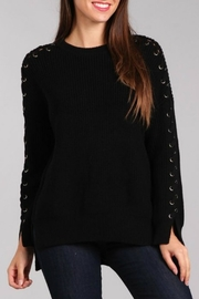 BLVD collection Lace-Up Sleeve Sweater - Product Mini Image
