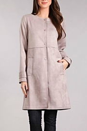 BLVD collection Suede Snap Coat - Product Mini Image