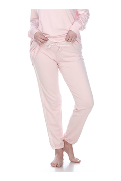 PJHARLOW BLYTHE FRENCH TERRY SWEAT PANT WITH SATIN WAISTBAND AND TRIM - Product List Image
