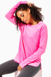 Lilly Pulitzer  Blythe Velour Pullover - Product Mini Image