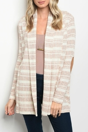 Bo Bel Cream Rust Cardigan - Product Mini Image
