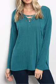 Bo Bel Lace Up Tunic - Front cropped