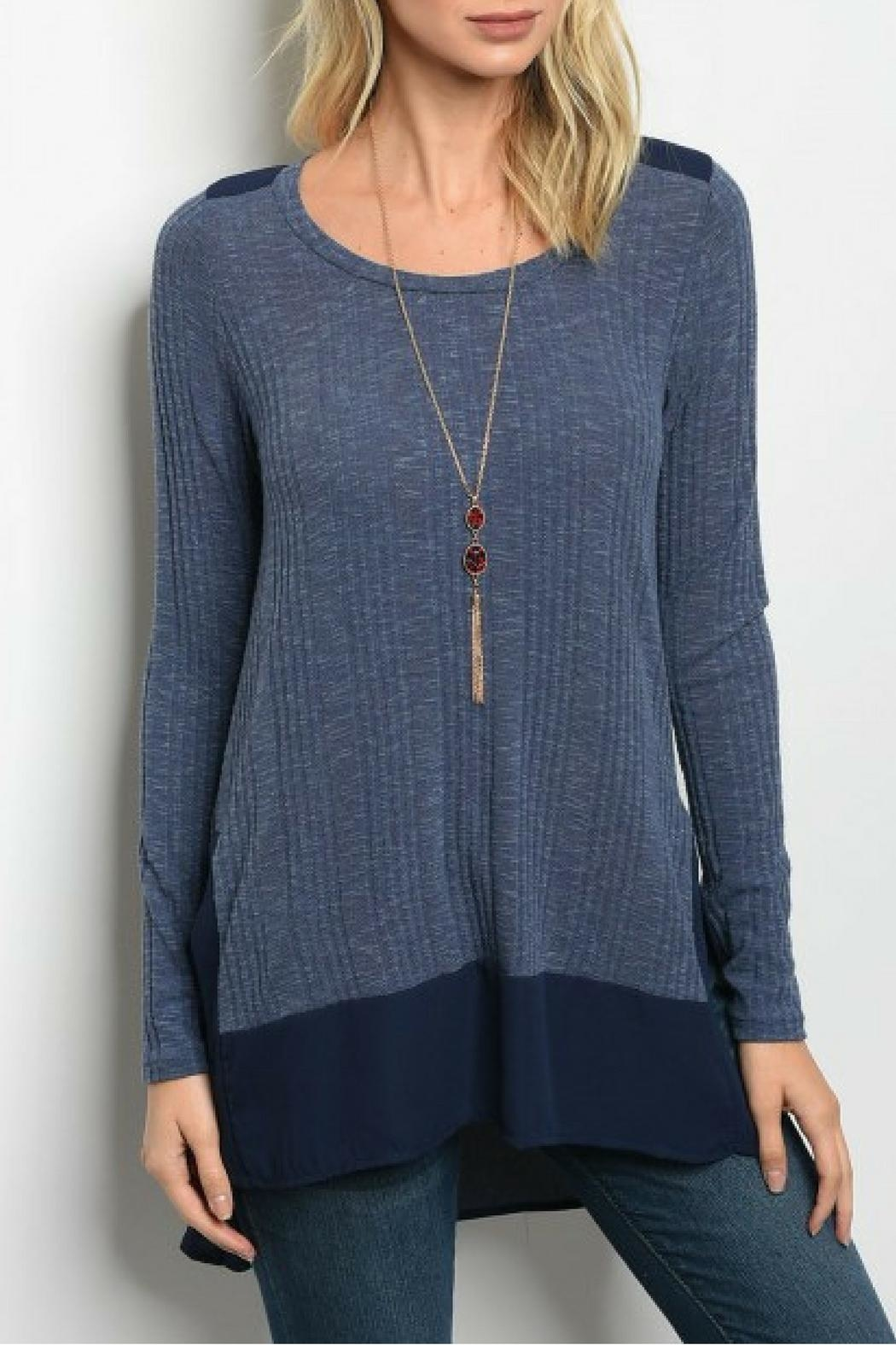 Bo Bel Light Knit Top - Front Cropped Image