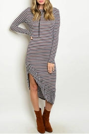Bo Bel Navy Stripe Dress - Product Mini Image