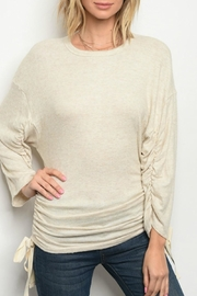 Bo Bel Oatmeal Knit Top - Front cropped