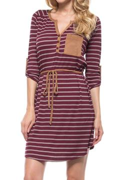 Shoptiques Product: Striped Ribbed Dress
