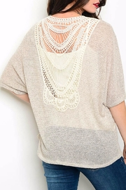 Bo Bel Taupe Slub Knit Top - Front full body