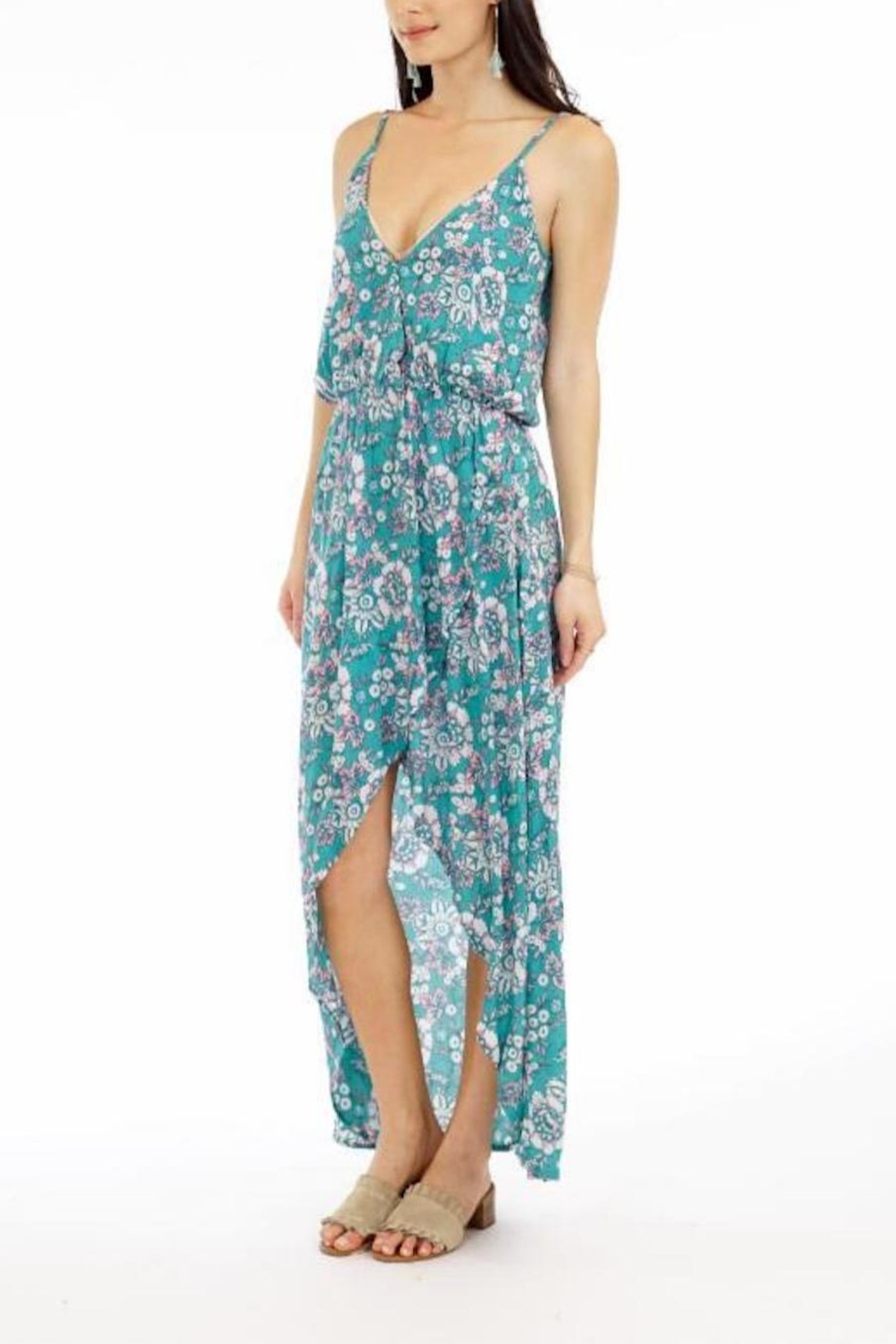 Tiare Hawaii Boardwalk Floral Maxi - Front Cropped Image