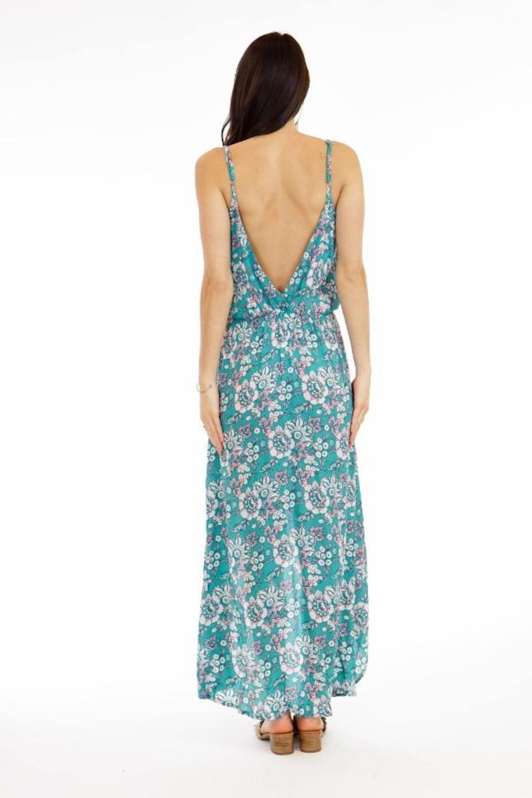 Tiare Hawaii Boardwalk Floral Maxi - Front Full Image