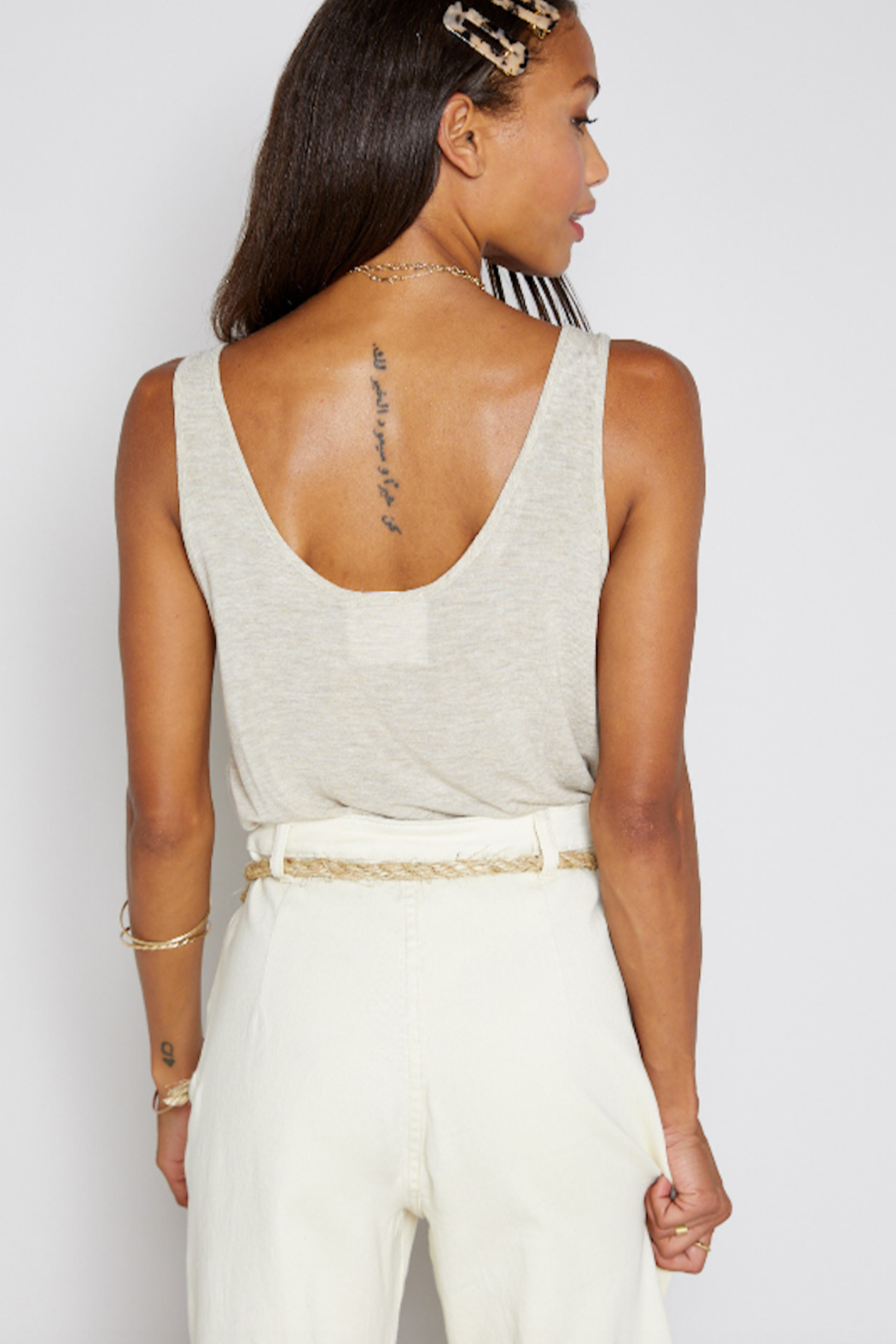 Sadie & Sage Boardwalk Knit Tank - Side Cropped Image