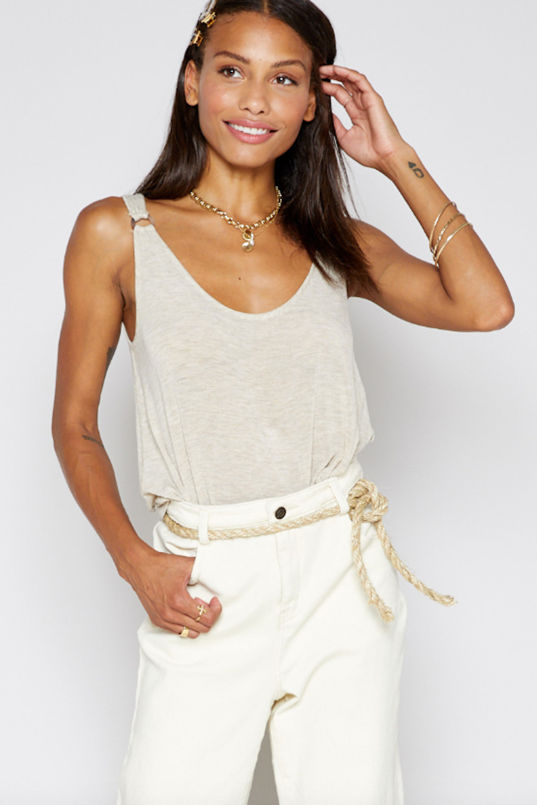 Sadie & Sage Boardwalk Knit Tank - Front Full Image