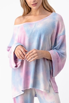 Olivia Graye Boat Neck Hacci Pastel Tie Dye Top - Alternate List Image