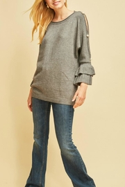 Entro Boat-Neck Pearl Sweater - Product Mini Image