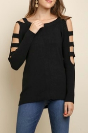 Umgee USA Boat Neck Sweater - Front cropped