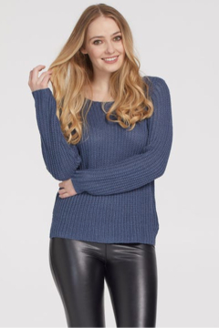 Tribal  Boat Neck Sweater - Product List Image