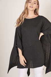 Mustard Seed  Boat Neck Sweater Poncho - Front full body