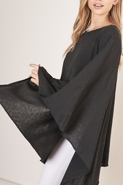 Mustard Seed  Boat Neck Sweater Poncho - Product Mini Image