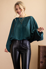 143 Story Boat Neck Top with Volume Sleeve - Product Mini Image