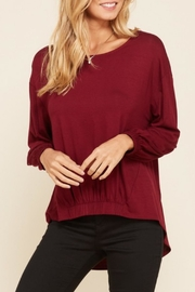 annabelle Boatneck Burgundy Top - Product Mini Image