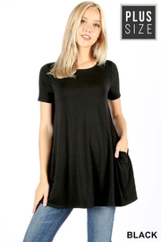Zenana Outfitters Boatneck Flare Top - Product Mini Image