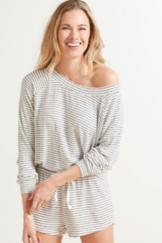 Bobi Los Angeles Boatneck L/S Top - Product Mini Image