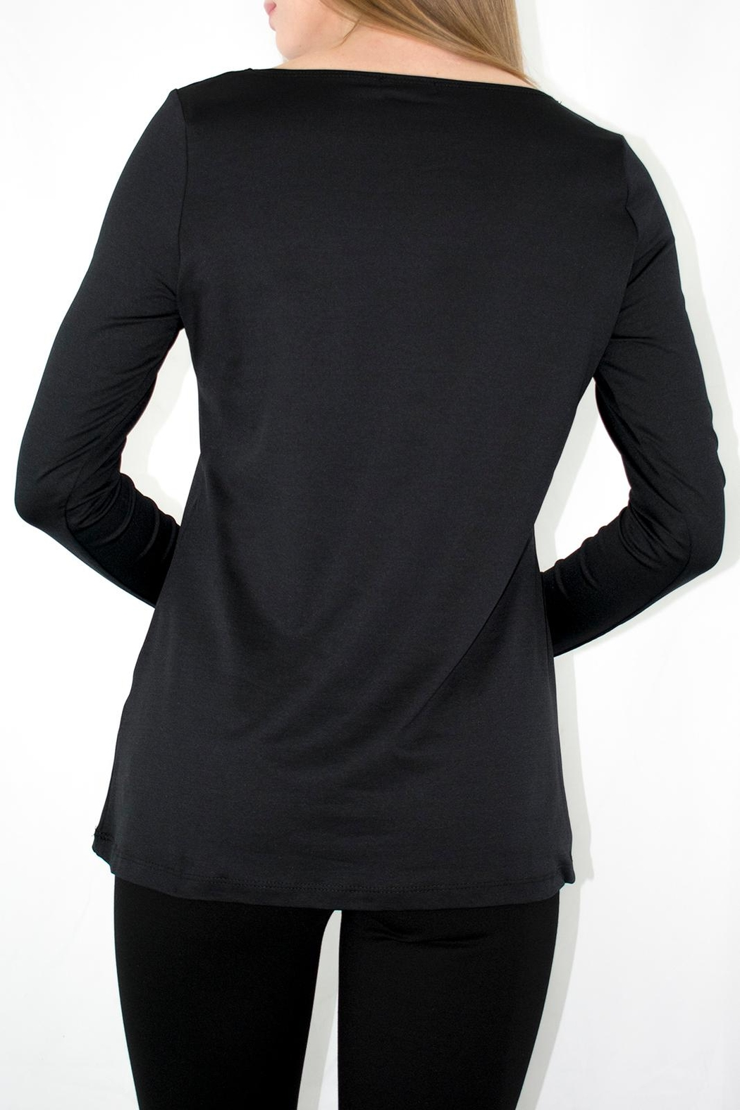 A'Nue Ligne Boatneck Longsleeve Top - Side Cropped Image