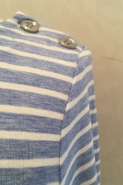 Renuar Boatneck stripped blue shirt - Product Mini Image