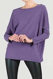Clara Sunwoo Boatneck Tunic with Modern Stitch - Front cropped