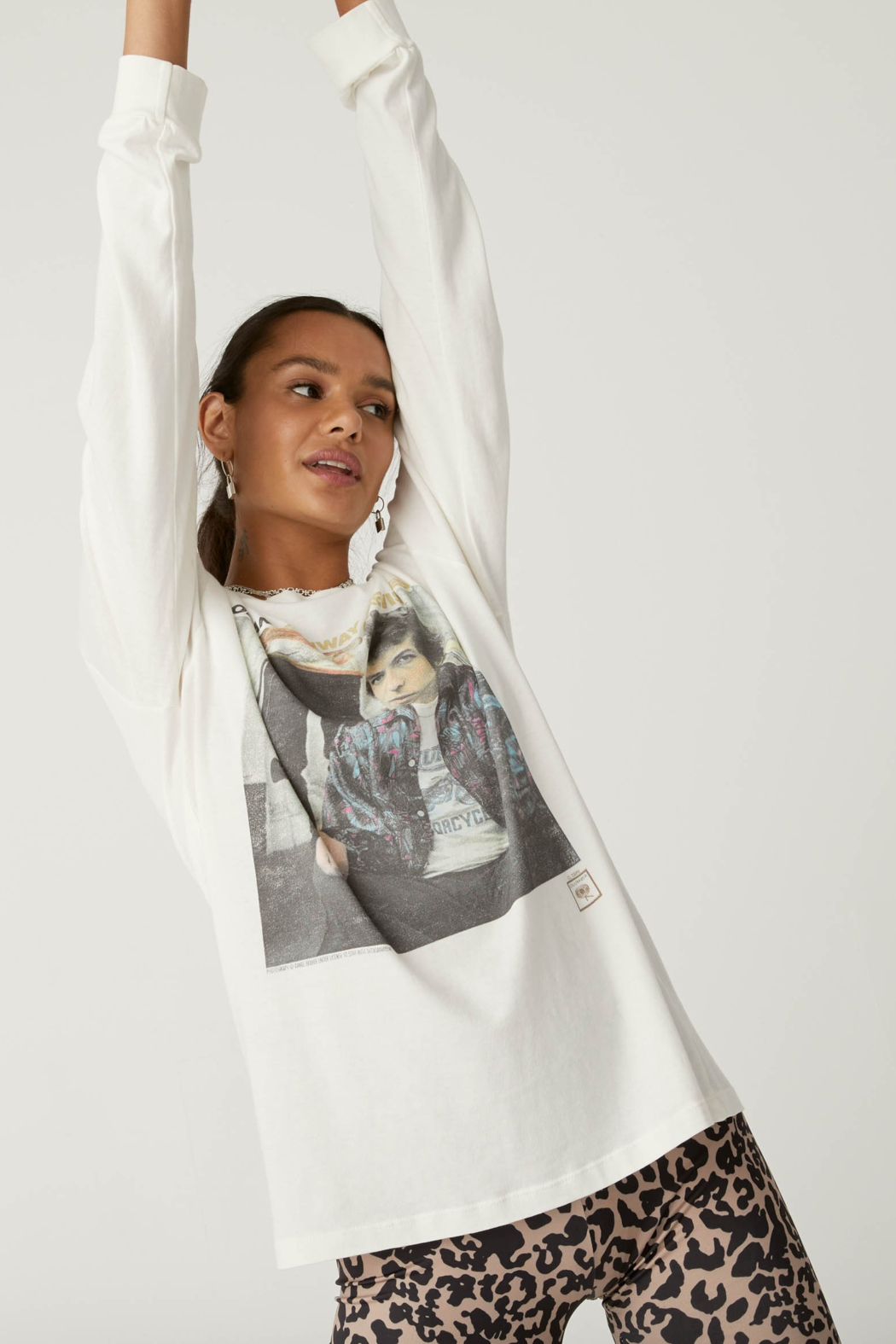Daydreamer Bob Dylan Highway 61 Oversized Long Sleeve - Front Cropped Image