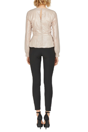 Adelyn Rae Bobbi Champagne Bow Tie Blouse - Front full body