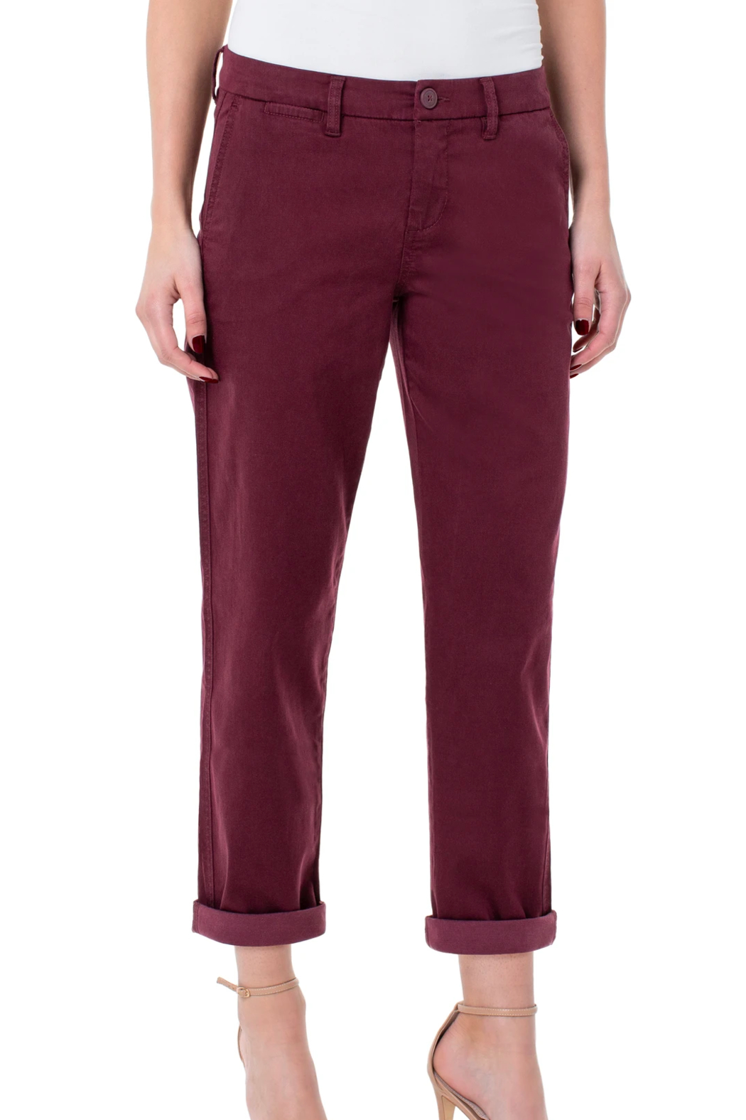Liverpool Bobbie Trouser Pant - Back Cropped Image