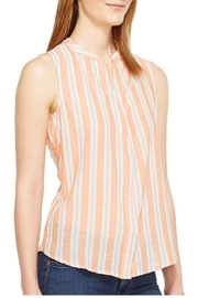 Bobeau Back Button Top - Front full body