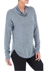 Bobeau Cowl Neck Top - Front full body