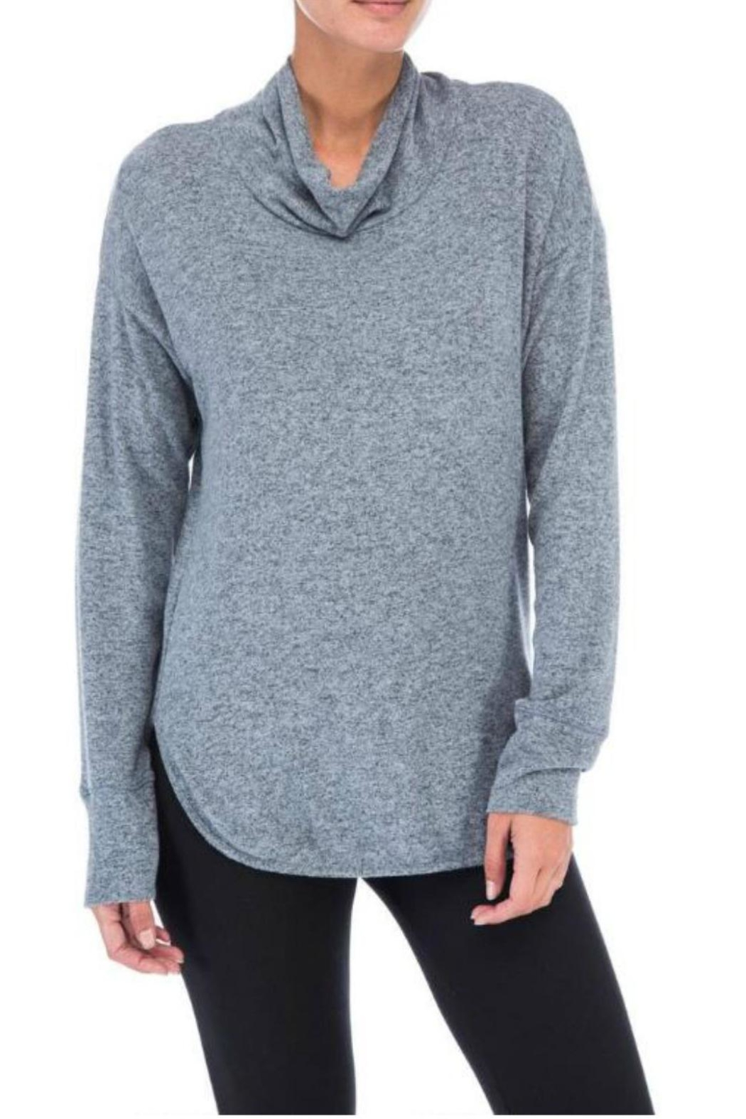 Bobeau Cowl Neck Top - Front Cropped Image